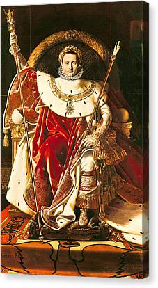 Napoleon I On The Imperial Throne Canvas Print by Ingres