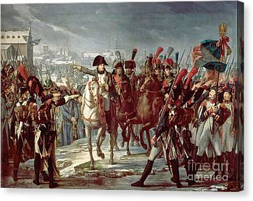Napoleon Ordering The II Corps Into Action At Augsbourg Canvas Print by Celestial Images