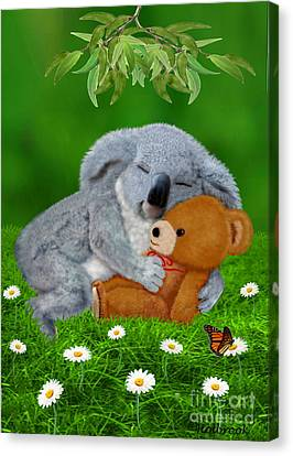 Naptime With Teddy Bear Canvas Print by Glenn Holbrook
