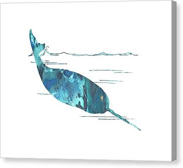Narwhal Canvas Print by Mordax Furittus