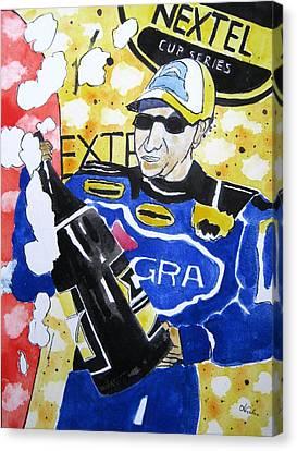 Nascar Mark Martin Canvas Print by Lesley Giles