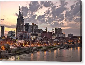 Nashville At Dusk Canvas Print by Greg Davis