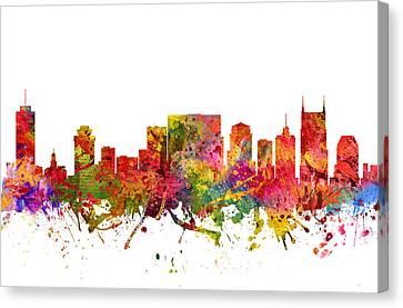 Nashville Cityscape 08 Canvas Print by Aged Pixel