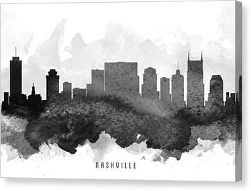 Nashville Cityscape 11 Canvas Print by Aged Pixel