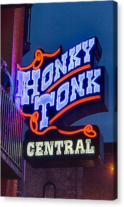 Nashville Honky Tonk Central Canvas Print by Mike Burgquist