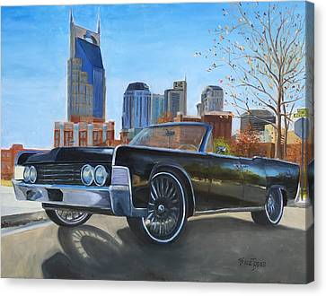 Nashville Lincoln Canvas Print by Barbara Joines