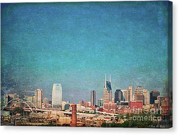 Nashville Skyline Canvas Print by Linda M Gardner