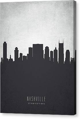 Nashville Tennessee Cityscape 19 Canvas Print by Aged Pixel