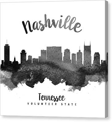 Nashville Tennessee Skyline 18 Canvas Print by Aged Pixel