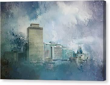 Nashville Tennessee Skyline Canvas Print by Jai Johnson