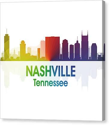 Nashville Tn 1 Squared Canvas Print by Angelina Vick