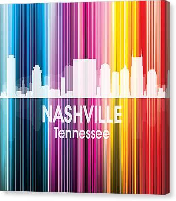 Nashville Tn 2 Squared Canvas Print by Angelina Vick