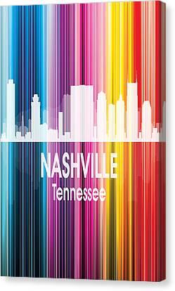 Nashville Tn 2 Vertical Canvas Print by Angelina Vick