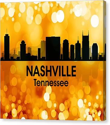 Nashville Tn 3 Squared Canvas Print by Angelina Vick