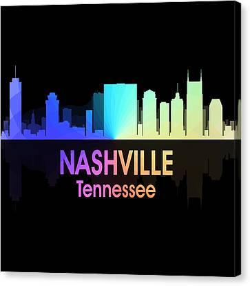 Nashville Tn 5 Squared Canvas Print by Angelina Vick