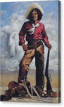 Nat Love - Aka - Deadwood Dick Canvas Print by Harvie Brown
