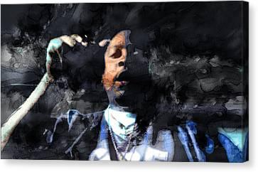 Nate Dogg 4329000 Canvas Print by Jani Heinonen
