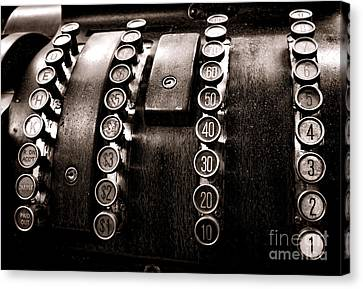 National Cash Register Canvas Print by Olivier Le Queinec