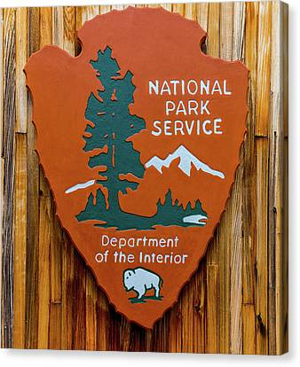 National Park Service Sign Canvas Print by Brian MacLean