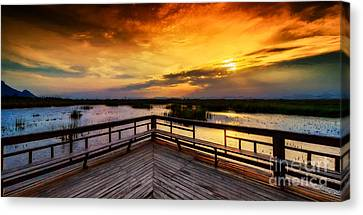 National Park Sunset Canvas Print by Adrian Evans