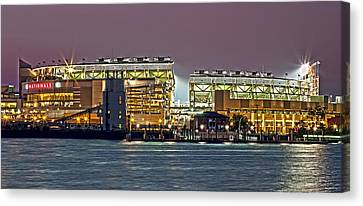 Nationals Park - Baseball Stadium - Washington Dc Canvas Print by Brendan Reals
