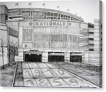 Nationals Park Canvas Print by Juliana Dube