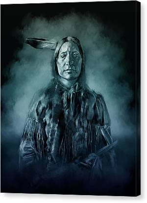 Native American Chief-scabby Bull 3 Canvas Print by Bekim Art