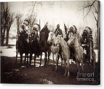 Native American Chiefs Canvas Print by Granger