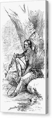 Native American With Pipe Canvas Print by Granger