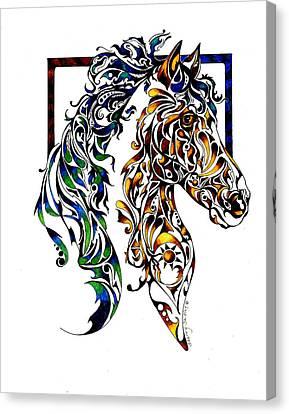 Native Spirit Canvas Print by Sherry Shipley