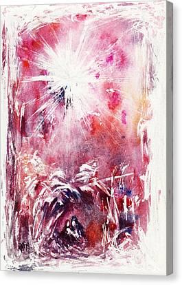 Nativity 5 Canvas Print by Rachel Christine Nowicki