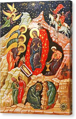 Nativity Icon Canvas Print by Munir Alawi