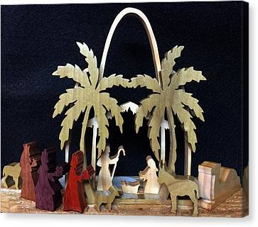 Nativity Canvas Print by Michael Bergman