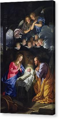 Nativity Canvas Print by Philippe de Champaigne