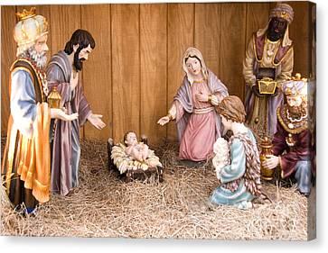 Nativity Scene Canvas Print by Thomas R Fletcher