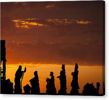 Nativity Sunrise Canvas Print by Andrew Soundarajan