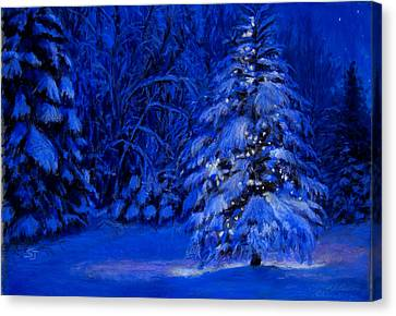 Natural Christmas Tree Canvas Print by Susan Jenkins