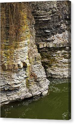 Nature Abstract Rock Cliffs Canvas Print by Christina Rollo