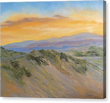 Nature's Blazing Sky Canvas Print by Jo Anne Neely Gomez