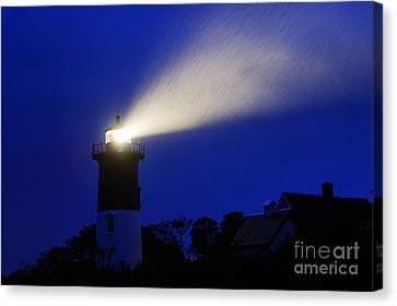 Nauset Light Storm Canvas Print by John Greim