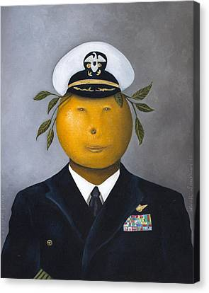 Naval Officer Canvas Print by Leah Saulnier The Painting Maniac