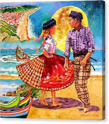 Nazare Portugal Canvas Print by John Lautermilch