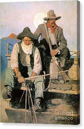 N.c. Wyeth: The Pay Stage Canvas Print by Granger