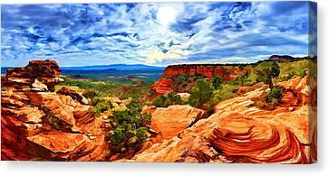 Doe Mountain Vista Canvas Print by Bill Caldwell -        ABeautifulSky Photography