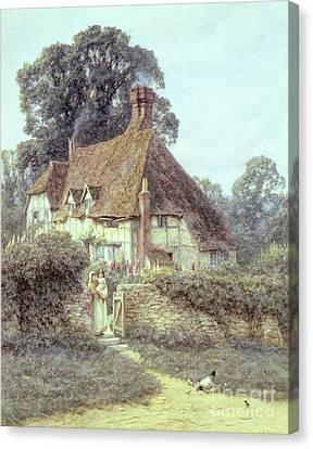 Near Witley Surrey Canvas Print by Helen Allingham