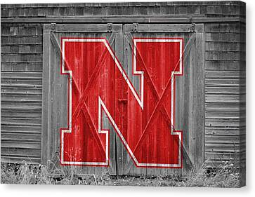 Nebraska Cornhuskers Barn Doors Canvas Print by Joe Hamilton