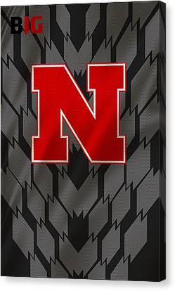 Nebraska Cornhuskers Uniform Canvas Print by Joe Hamilton