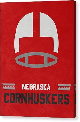 Nebraska Cornhuskers Vintage Art Canvas Print by Joe Hamilton