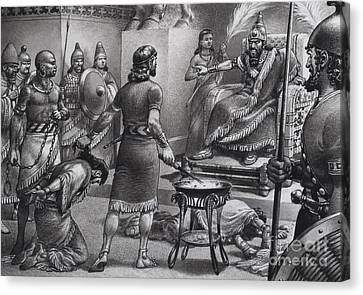 Nebuchadnezzar And Zedekiah Canvas Print by Pat Nicolle