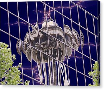 Needle Reflection Canvas Print by Tim Allen